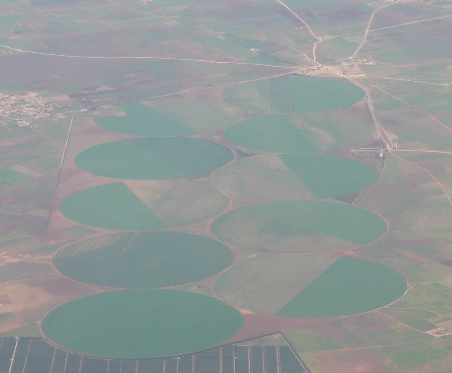 Bewässerungskreise in Marokko