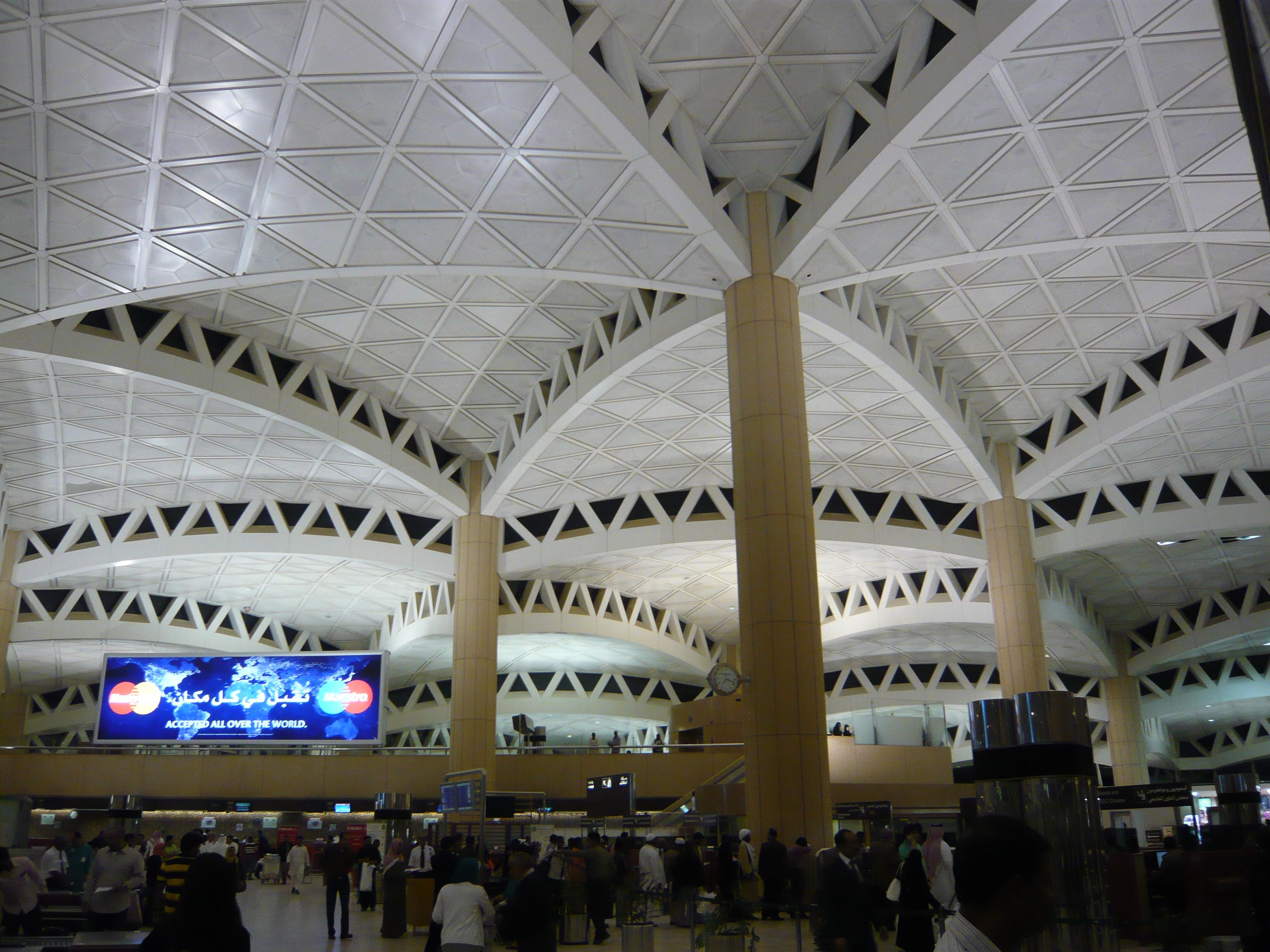 Deckenkonstruktion Einhangshalle Flughafen Riad