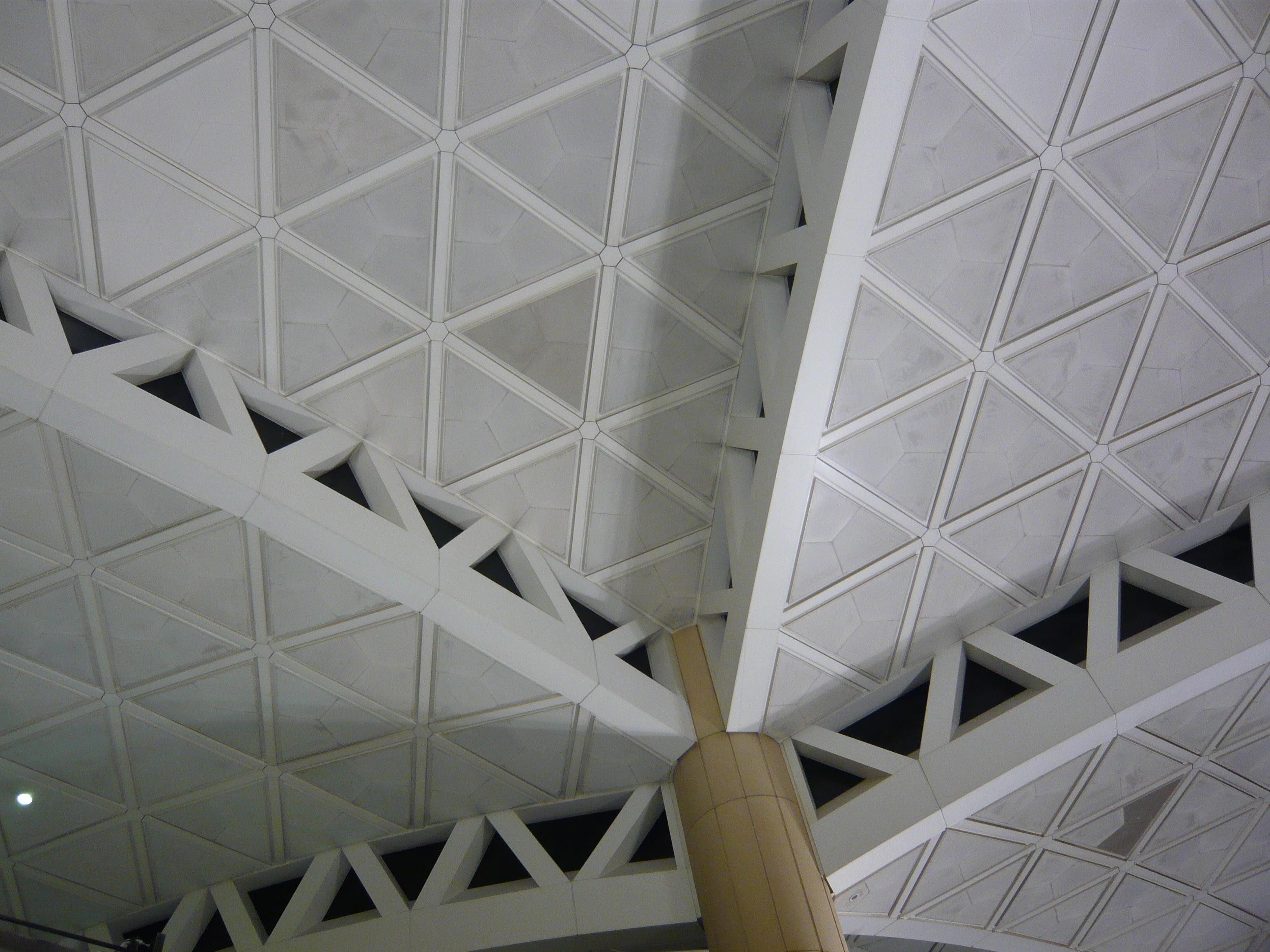 Deckenkonstruktion Einhangshalle Flughafen Riad - Detail