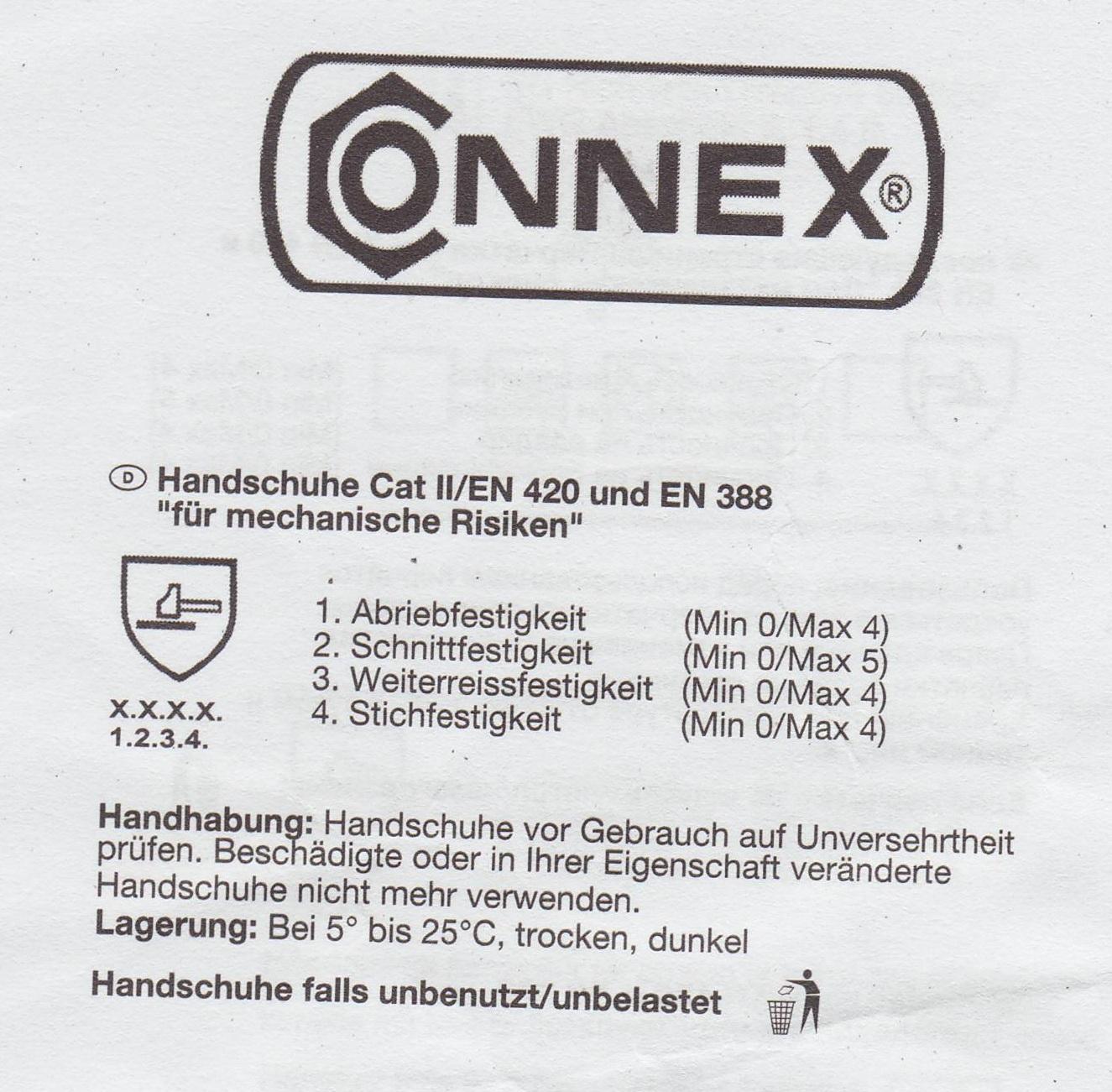Connex Arbeitshandschuhe Beschreibung