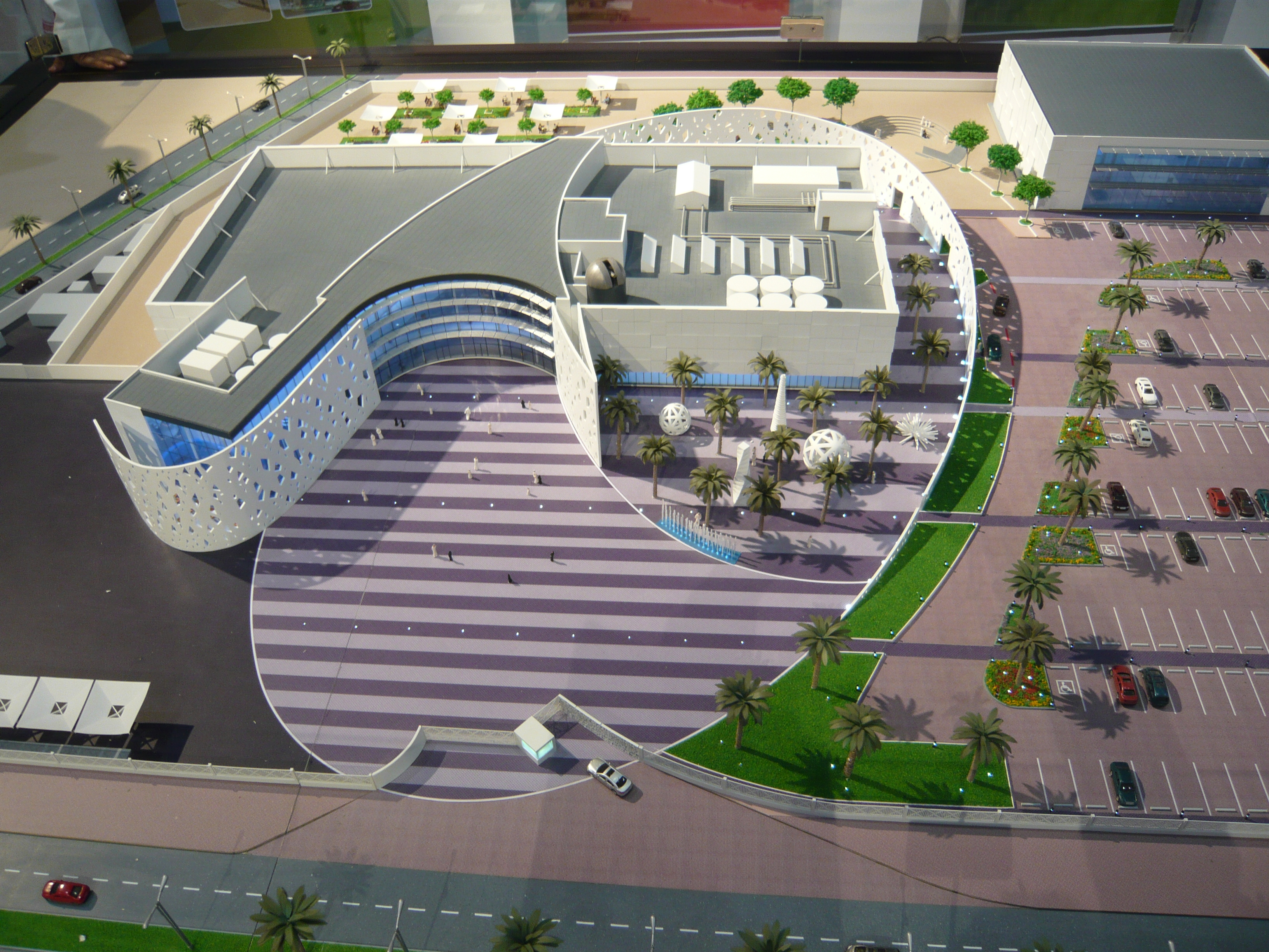 Planes eines Science Center in Saudi-Arabien